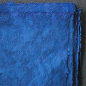 Khadi - Coloured Lokta Paper  30gsm - Blue
