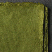 Khadi - Coloured Lokta Paper  30gsm - Olive
