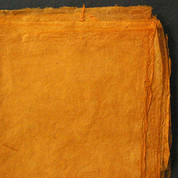 Khadi - Coloured Lokta Paper  30gsm - Saffron