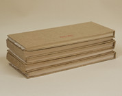 "Khadi - 100% Cotton Rag Hardback Book 210gsm - Rough 5""x 12"""