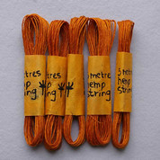 Khadi - Coloured Hemp String 5M - Saffron