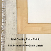 Bespoke: Mid Quality x Universal Primed Medium Fine Grain Linen 514