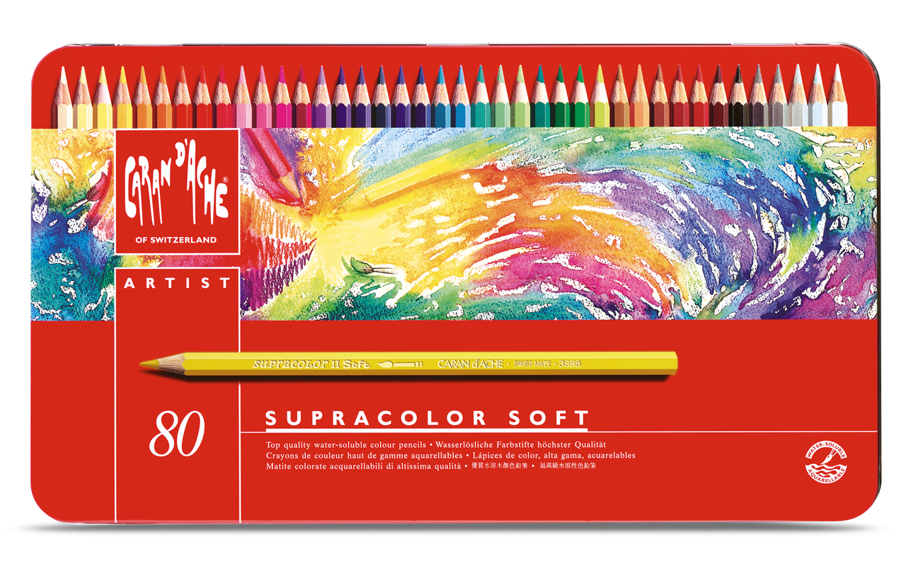 dc769312ec6e Caran D ache - Supracolor Watersoluble Pencil set of 80 - Atlantis ...