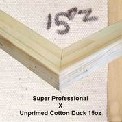 Bespoke: Super Professional x Unprimed Superior Cotton Duck 15oz.