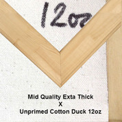 Bespoke: Mid Quality x Unprimed Superior Cotton Duck 12oz