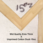 Bespoke: Mid Quality x Unprimed Superior Cotton Duck 15oz