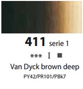 Sennelier Artists Oils - Van Dyck Brown Deep S1