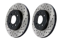 Stoptech Slotted & Drilled Front Brake Rotors for Twin-Turbo Z32 (89-96 300zx)