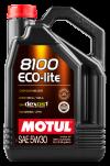 Motul 8100 ECO-lite 5W30 Synthetic Engine Oil - 5 Liters