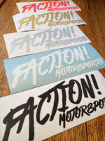 FACTION! MOTORSPORTS Stickers