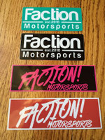 Small Faction Motorsports Stickers