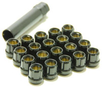 Muteki Lug Nuts 12x1.25 Open Ended Black