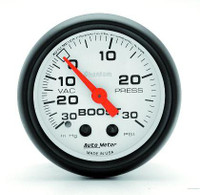 Auto Meter Phantom Series Mechanical Boost Gauge 30 PSI
