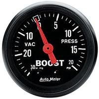 Auto Meter Z Series 52mm 20 PSI Mechanical Boost Gauge
