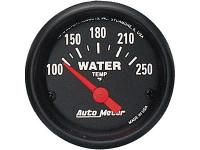 Auto Meter Z-Series 52mm 100-250 Degrees F. Water Temp Gauge