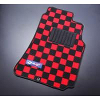 D-MAX Red/Black Front Floor Mats (89-94 S13)