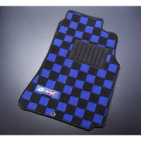 D-MAX Blue/Black Front Floor Mats (89-94 S13)