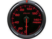 Defi Red Racer Pressure Gauge 52mm 140 PSI