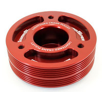 GrimmSpeed Lightweight Crank Pulley Red (inc. 02-14 WRX/STI)