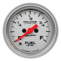 Auto Meter Ultra-Lite Series Fuel Level Gauge