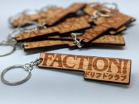 FACTION! New Jersey Drift Club - Wood Keychain