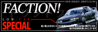 FACTION! Drift Club - Low Car Special Sticker