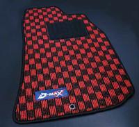 D-MAX Red/Black Floor Mat Set (89-94 S13)
