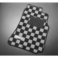 D-MAX White/Black Floor Mat Set (89-94 S13)