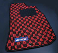 D-MAX Red/Black Floor Mat Set (95-98 S14)
