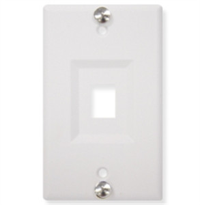 Wall Plate Phone Recessed Port White on Surface Mount Telephone Wall Jack