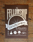THE FELLOWSHIP OF GENTLEMEN CYCLISTS SCREENPRINT - BROWN
