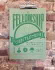 THE FELLOWSHIP OF GENTLEMEN CYCLISTS SCREENPRINT - GREEN