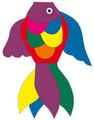 HQ Kites - Tropical Fish Windsock Rainbow 100