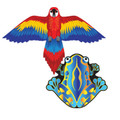 "Xkites - Microkite 2pack ""Macaw / Frog"""
