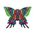 """Xkites - Midi Nylon Kite - Butterfly """"Green"""""""