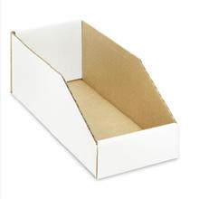 """Cardboard Parts Bin 5-1/2"""" x 17-5/8"""" x 4-1/2"""" - Waxed"""