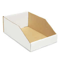"""Cardboard Parts Bin 11-1/16"""" x 17-5/8"""" x 4-1/2"""" - Waxed"""