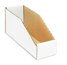 "VBWZ Series Bin Boxes 2"" x 18"" x 4.5"" - Bin Boxes - Call CardBoardPartsBins.com Toll Free 800-765-9977"