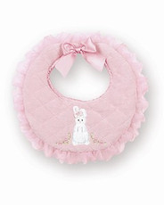 Bunny Bib from the Pink Cottontail Collection