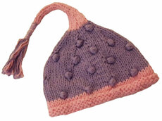 Lavender Tassle Baby Hat