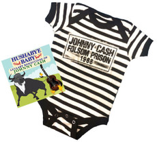 Johnny Cash Folsom Prison Baby Onesie Gift Set with CD