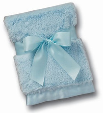 Blue Silky Soft Security Blanket