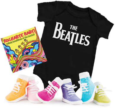 Beatles Onesie CD and Socks Gift Set