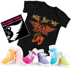 Aerosmith Onesie Sock and Lullaby Gift Set