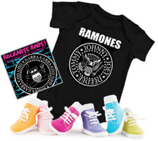 Ramones Baby Onesie Gift Set with Socks and CD