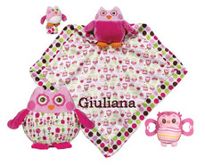 Adorable Owl Gift Set Pink