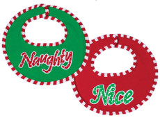 Naughty or Nice Bib