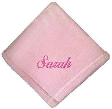 Pink Micro Fleece Baby Blanket