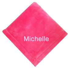 Raspberry Micro Fleece Baby Blanket