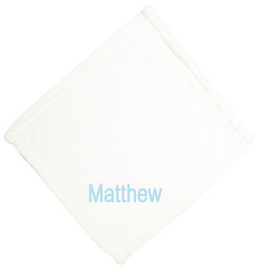 White Micro Fleece Baby Blankie